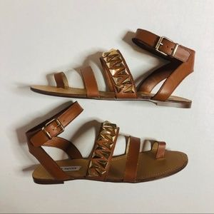 Steve Madden curlyy leather strappy sandals